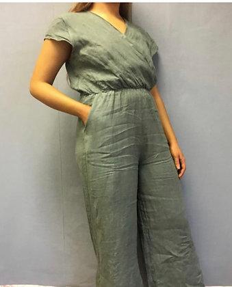Linen Cross Top Jumpsuit