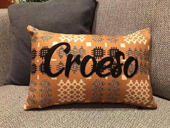 Tapestry Print Croeso Cushion