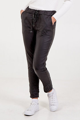 Leather Look Two Pocket Joggers