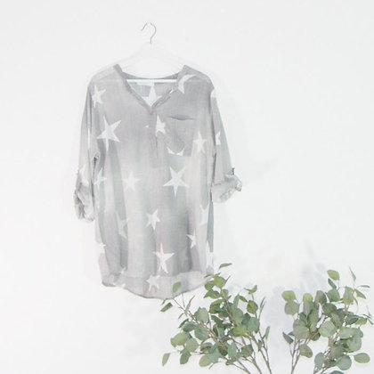 Star Print lightweight Shirt