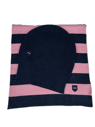 Striped Scarf and Hat Set