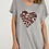 Thumbnail: Free Size Jersey Top with Leopard Print Heart