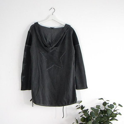 Hooded Jersey Jacket with Star
