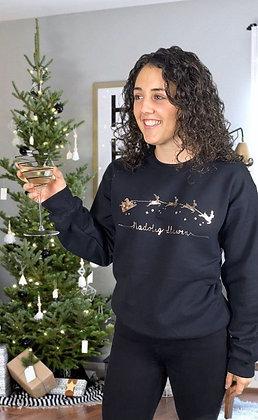 Sleigh Nadolig Llawen Sweatshirt