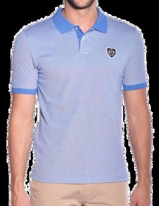 Blue Short Sleeve Golf Shirt