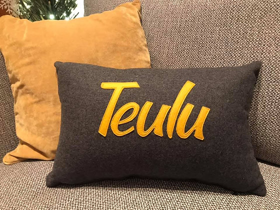 Yellow Teulu Cushion