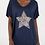 Thumbnail: Free Size Jersey Top with Leopard Print Star