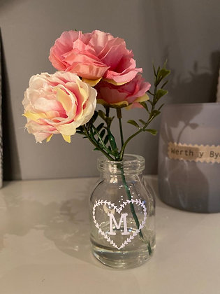 Artificial Flower in Mini Glass Pot