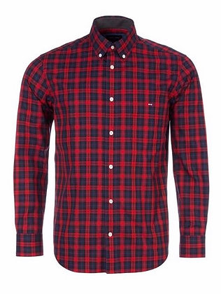 Long Sleeve Check Shirt (Red/Navy)