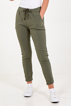 Basic Plain Stretch Two Pocket Joggers