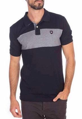 Black with Grey Striped Golf shirt