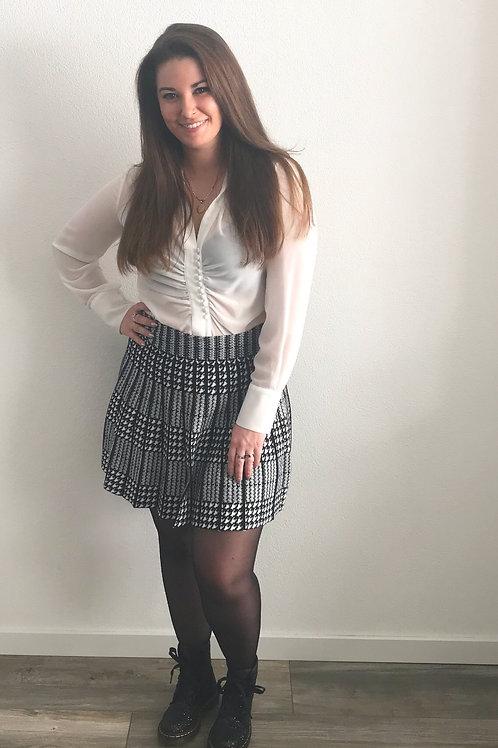 Mini rok zwartwit