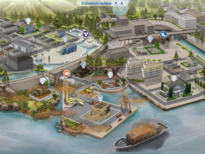 Evergreen Harbor Fanart Map