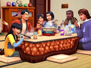 Japanische Schneelandschaften im neuen Sims-Pack