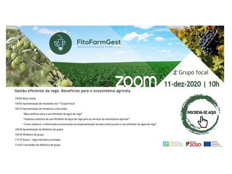 """2º Grupo Focal FitoFarmGest """"Gestão Eficiente da Rega: Benefícios para o ecossistema agrícola"""""""