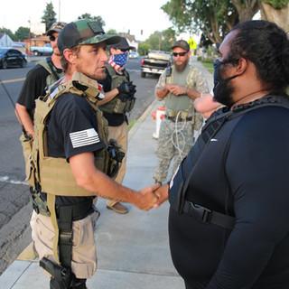 """Three Percent"" Militia Attempt to Incite Violence At Protest."
