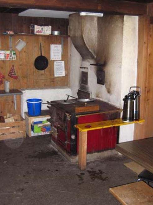 Holzherd zum Kochen