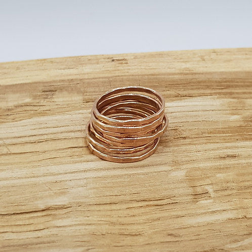 Skinny Rose Gold Filled Stackable Ring / Midi Ring / Stacking Ring
