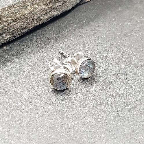 Sterling Silver Labradorite Studs