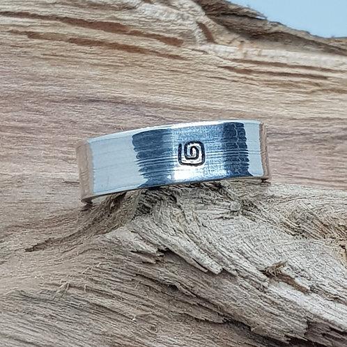 Sterling Silver Handstamped Ring
