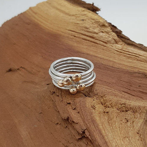 Solid Gold Pebble Ring