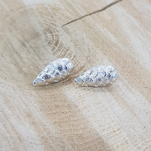 Fine Silver Pangolin Earrings