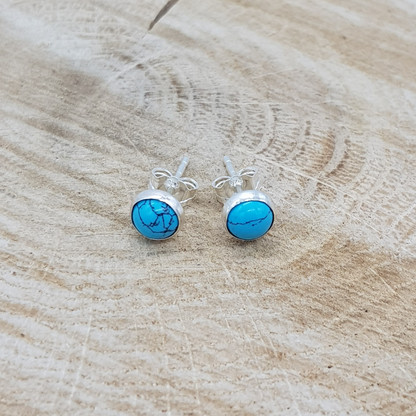 Silver Turquoise Stud