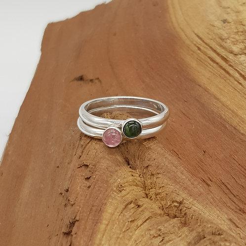 Pink / Green Tourmaline Ring