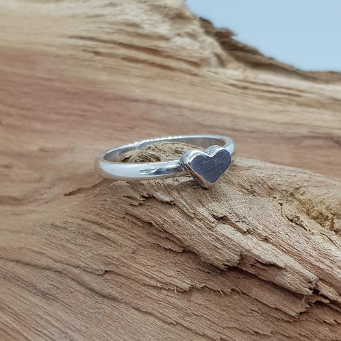Sterling Silver Heart Ring / Stacking Ring
