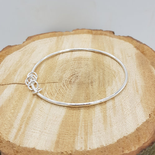 Silver Sentiments Bangle