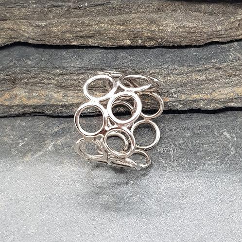 Sterling Silver Dual Circles Ring