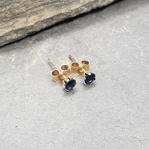 9ct Gold Sapphire Stud Earrings