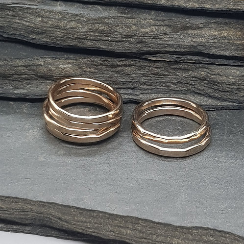 14ct Gold Filled Hammered Stackable Ring / Midi Ring / Stacking Ring