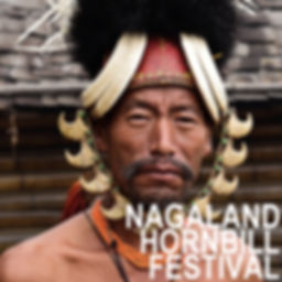 Portrait of a Konyak Naga Tribe during H