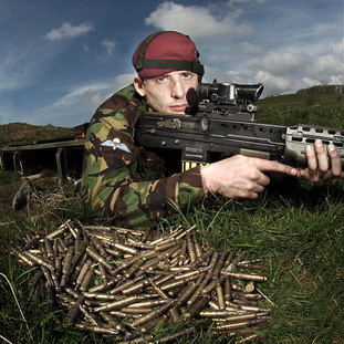 Paratrooper in training for Afghanistan.