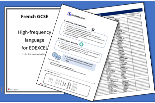 High Frequency Language for EDEXCEL- lists for memorisation