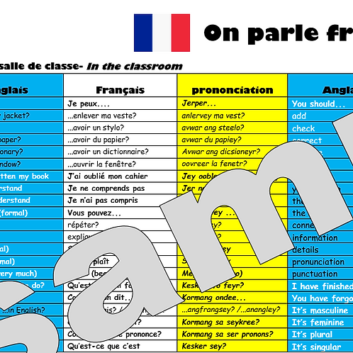 Speaking Mat French- 10 laminated copies