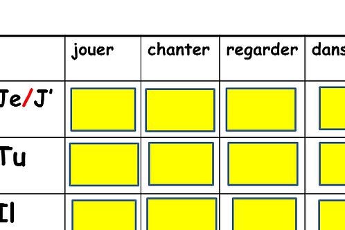 Mine Game- Present of ER verbs