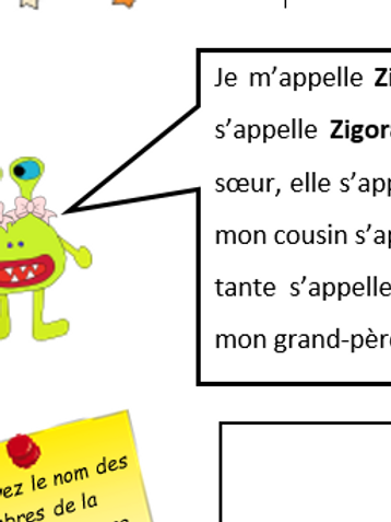 Family tree- Ziborg the alien