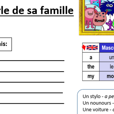 On Parle de la Famille worksheet- Ziborg