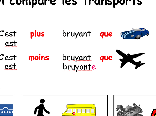 On compare les transports
