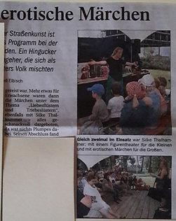 Silke Thalhammer Märchenerzählerin und Figurentheaterspielerin im Pfaffenhofener Kurier