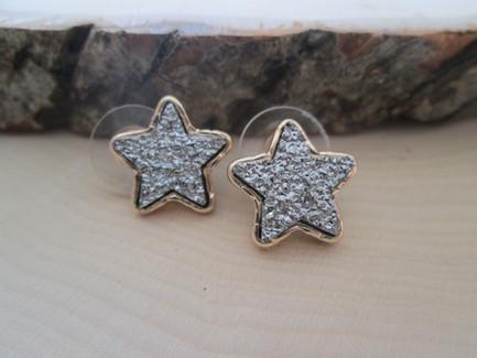 Druzy Star Studs