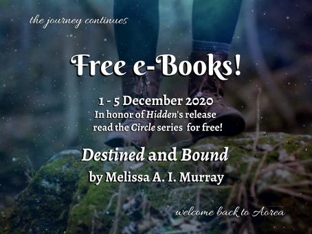 Free e-Books for Hidden's Release!
