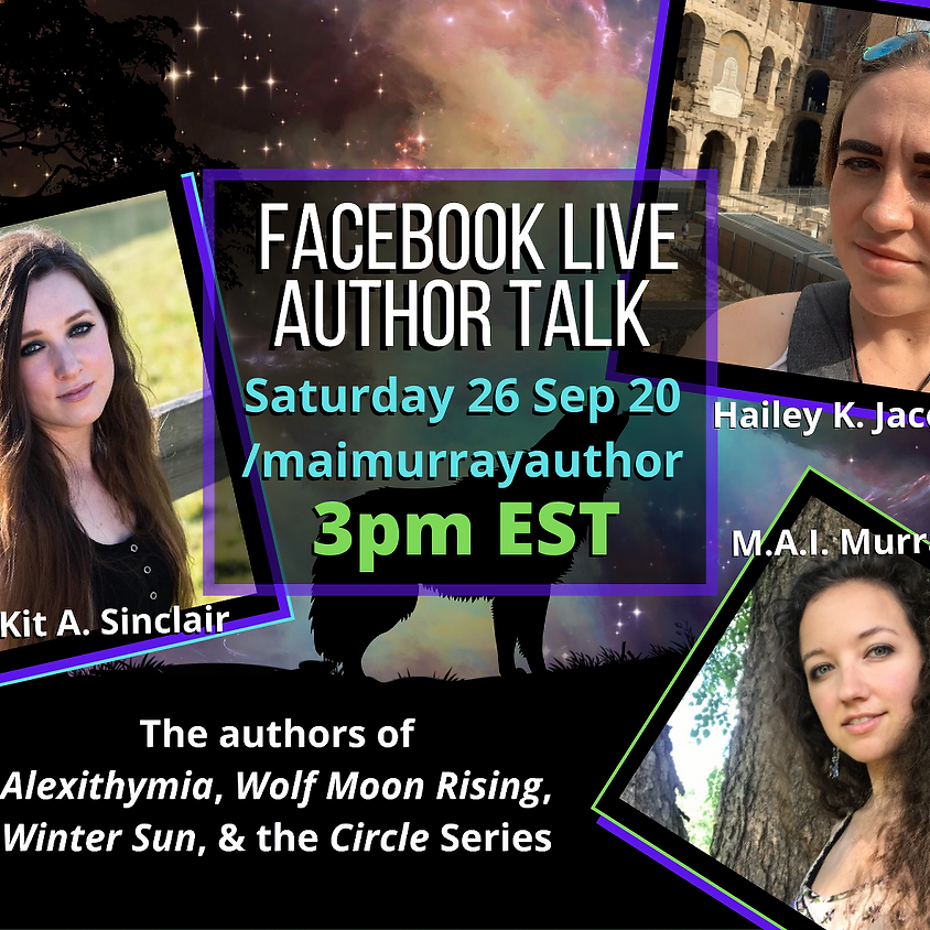 Facebook Live Author Talk feat. Kit Sinclair and Hailey Jacobs