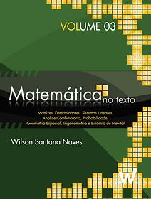 Matemática no texto Volume 3