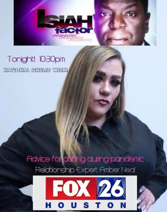 Amber is back on FOX 26 Houston tonight with Isiah Carey discussing 5 tips dating during pandemic