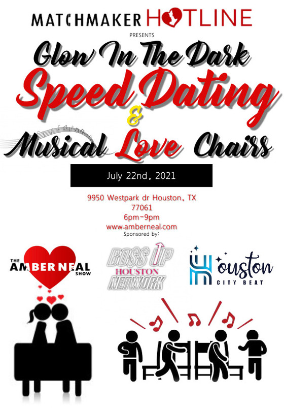 Glow in the dark speed dating & Musical Love chairs event one week away!