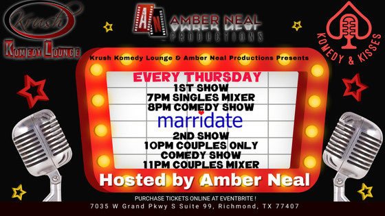 Comedian Amber Neal lands her own night in 2 brand new comedy clubs in Houston, Tx!