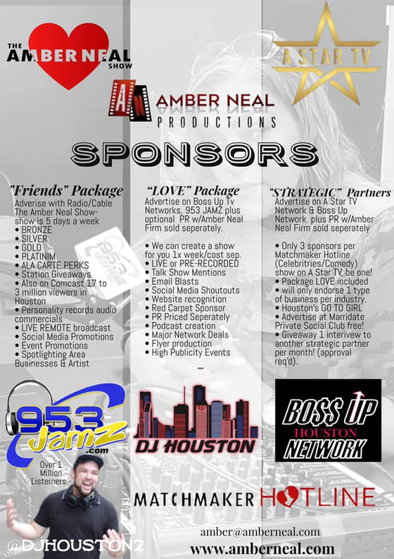 Advertise with us! Text NOW right here on website to Amber or email amber@amberneal.com